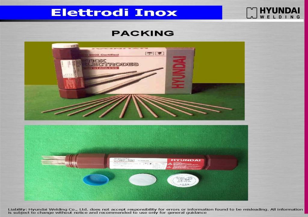 elettrodi Inox imballii